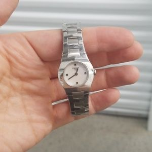Tissot watch mother of pearl - silvertone